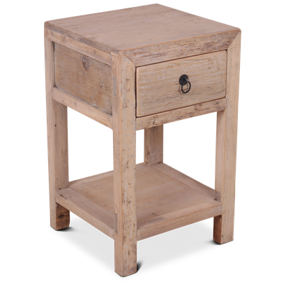 Wooden Night Stand 40x40x65 Unfinished, 1 Unfinished Furniture